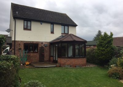 Home exterior with a conservatory